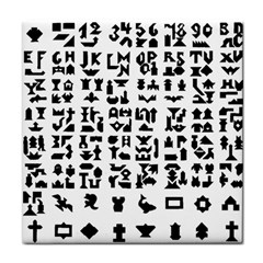 Anchor Puzzle Booklet Pages All Black Face Towel