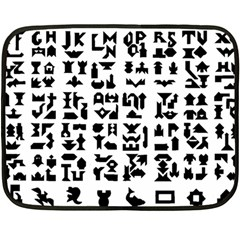 Anchor Puzzle Booklet Pages All Black Double Sided Fleece Blanket (Mini)