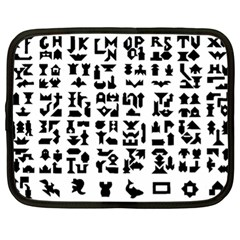 Anchor Puzzle Booklet Pages All Black Netbook Case (XL)