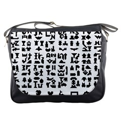 Anchor Puzzle Booklet Pages All Black Messenger Bags