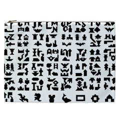 Anchor Puzzle Booklet Pages All Black Cosmetic Bag (xxl)