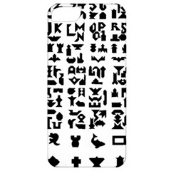 Anchor Puzzle Booklet Pages All Black Apple iPhone 5 Classic Hardshell Case