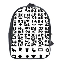 Anchor Puzzle Booklet Pages All Black School Bags (xl)