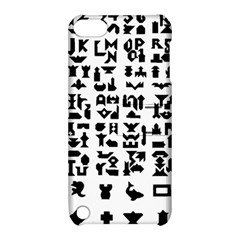 Anchor Puzzle Booklet Pages All Black Apple iPod Touch 5 Hardshell Case with Stand