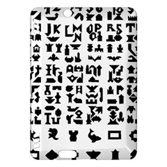 Anchor Puzzle Booklet Pages All Black Kindle Fire HDX Hardshell Case
