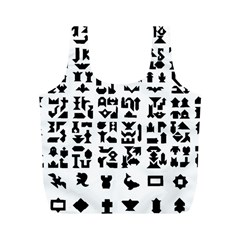 Anchor Puzzle Booklet Pages All Black Full Print Recycle Bags (M)