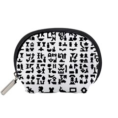 Anchor Puzzle Booklet Pages All Black Accessory Pouches (Small)