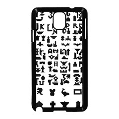 Anchor Puzzle Booklet Pages All Black Samsung Galaxy Note 3 Neo Hardshell Case (Black)