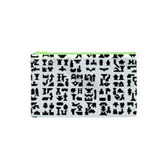 Anchor Puzzle Booklet Pages All Black Cosmetic Bag (xs)