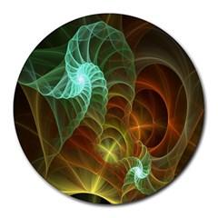 Art Shell Spirals Texture Round Mousepads