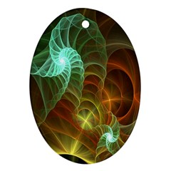 Art Shell Spirals Texture Ornament (oval)