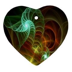 Art Shell Spirals Texture Ornament (Heart)