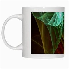 Art Shell Spirals Texture White Mugs