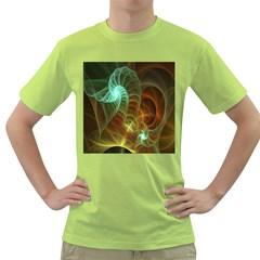 Art Shell Spirals Texture Green T-Shirt