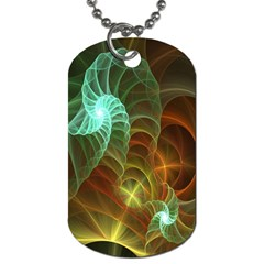 Art Shell Spirals Texture Dog Tag (one Side)