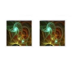 Art Shell Spirals Texture Cufflinks (square)