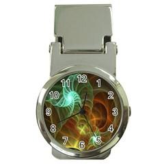 Art Shell Spirals Texture Money Clip Watches