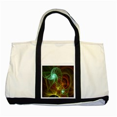Art Shell Spirals Texture Two Tone Tote Bag