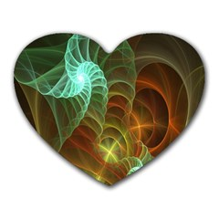 Art Shell Spirals Texture Heart Mousepads