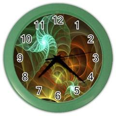 Art Shell Spirals Texture Color Wall Clocks