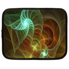Art Shell Spirals Texture Netbook Case (Large)