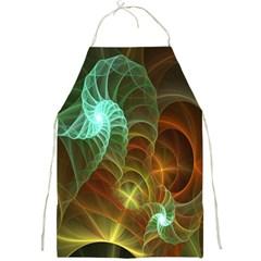 Art Shell Spirals Texture Full Print Aprons