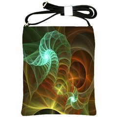 Art Shell Spirals Texture Shoulder Sling Bags