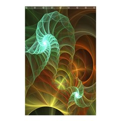 Art Shell Spirals Texture Shower Curtain 48  X 72  (small)
