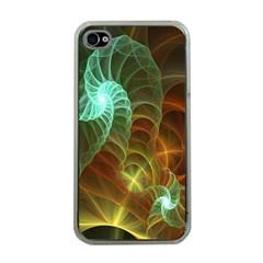 Art Shell Spirals Texture Apple iPhone 4 Case (Clear)