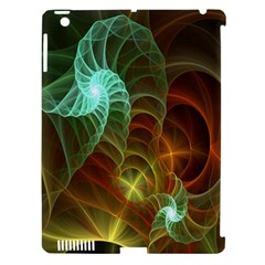 Art Shell Spirals Texture Apple iPad 3/4 Hardshell Case (Compatible with Smart Cover)