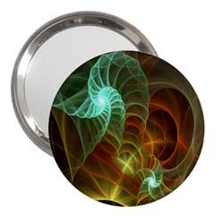 Art Shell Spirals Texture 3  Handbag Mirrors