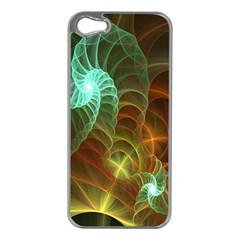 Art Shell Spirals Texture Apple iPhone 5 Case (Silver)
