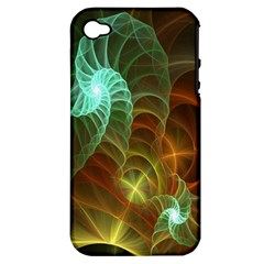 Art Shell Spirals Texture Apple Iphone 4/4s Hardshell Case (pc+silicone)