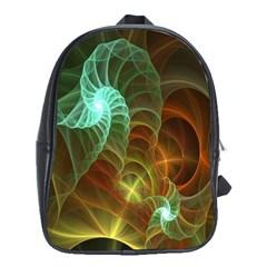 Art Shell Spirals Texture School Bags (XL)