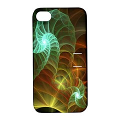 Art Shell Spirals Texture Apple iPhone 4/4S Hardshell Case with Stand