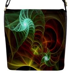 Art Shell Spirals Texture Flap Messenger Bag (s)