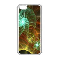 Art Shell Spirals Texture Apple iPhone 5C Seamless Case (White)