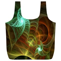 Art Shell Spirals Texture Full Print Recycle Bags (L)