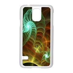 Art Shell Spirals Texture Samsung Galaxy S5 Case (White)