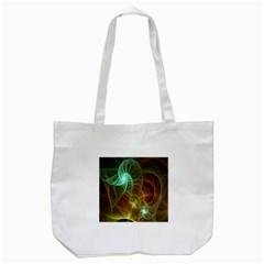 Art Shell Spirals Texture Tote Bag (White)