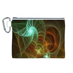Art Shell Spirals Texture Canvas Cosmetic Bag (l)