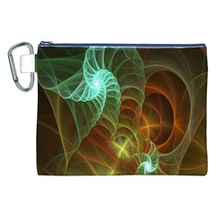 Art Shell Spirals Texture Canvas Cosmetic Bag (XXL)