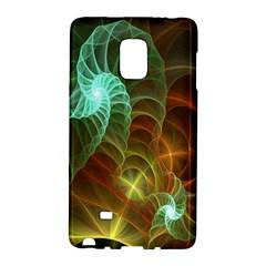 Art Shell Spirals Texture Galaxy Note Edge