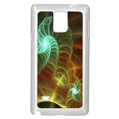 Art Shell Spirals Texture Samsung Galaxy Note 4 Case (white)