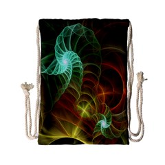 Art Shell Spirals Texture Drawstring Bag (Small)