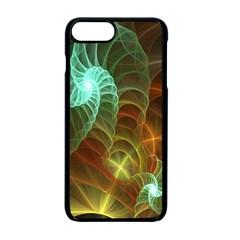 Art Shell Spirals Texture Apple Iphone 7 Plus Seamless Case (black)