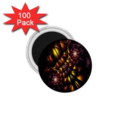 Art Design Image Oily Spirals Texture 1.75  Magnets (100 pack)