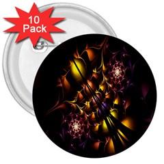 Art Design Image Oily Spirals Texture 3  Buttons (10 pack)