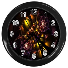 Art Design Image Oily Spirals Texture Wall Clocks (black)