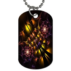 Art Design Image Oily Spirals Texture Dog Tag (two Sides)